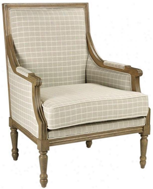 """""""marie Arm Chair - 38""""""""hx28.75""""""""w, Natural Grid"""""""