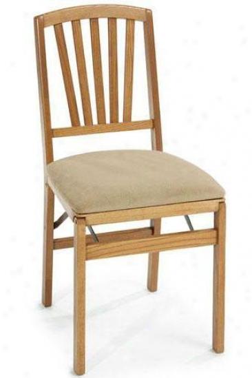 medium oak contemporary folding chair set of two