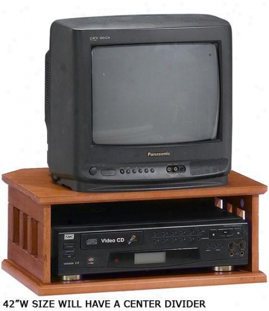 """""""mission-style 2-tier Tv Turntable - 42""""""""tv, Red"""""""