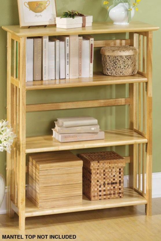 Mission-styeo 38 X 27.5 Inch Natural Folding/stacking Bookcase