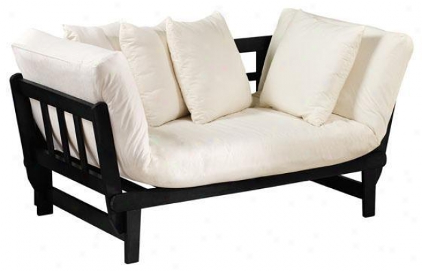 Mission-style Convertible Recline - Black, Ivory