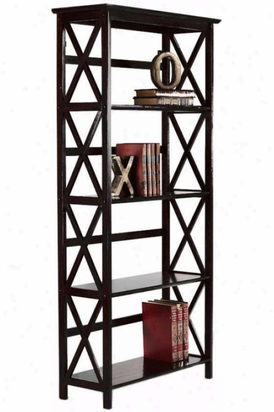 Montego 4-shelf Bookcase - High, Black