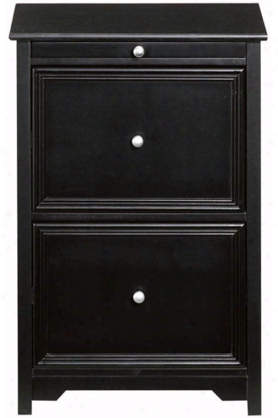 """oxford File Cabinet iWth Pull-out Shelf - 30.5""""hx20.5""""w, Black"""