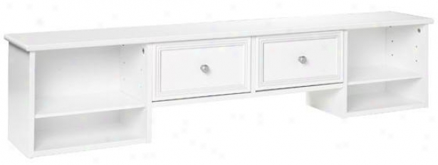 "White Desk With Drawers And Hutch: 56""""W, White"" @ Home's"