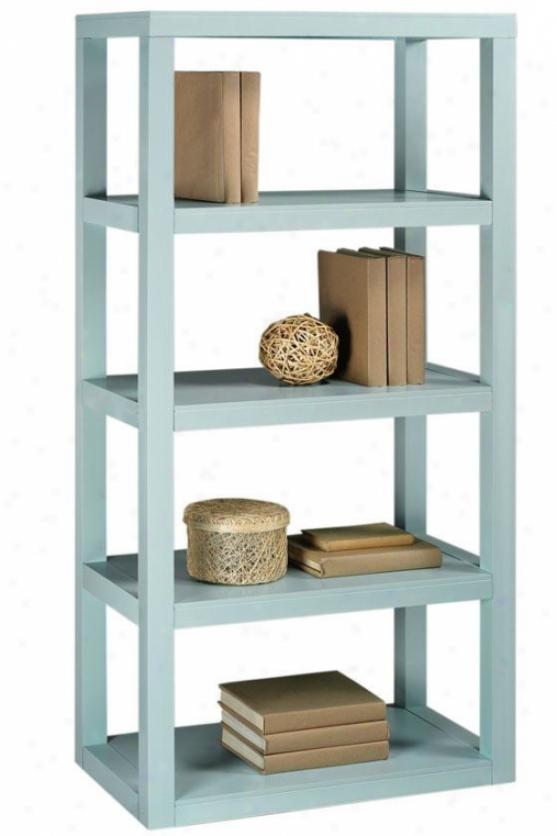 """""""parsons Bookcase - 62""""""""x30"""""""", Blue"""""""