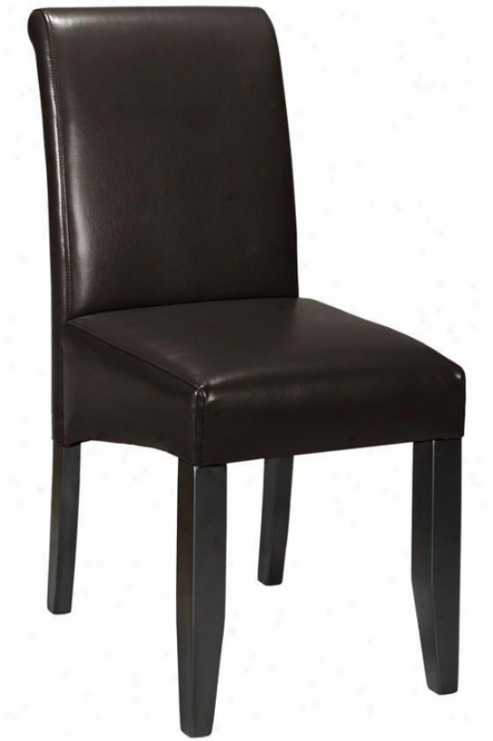 """parsons Rolled-back Leather Chair - 38""""h, Coffee Brown"""