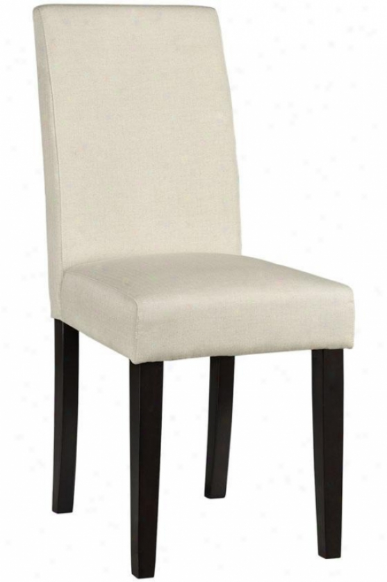 """padsons Side Chair - 37""""hx17.5""""w, Fx Ln Hrngbn Nt"""