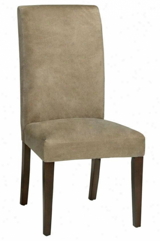 """parsons Slipcover Side Chair - 40.5""""hx20.5""""w, Beige"""