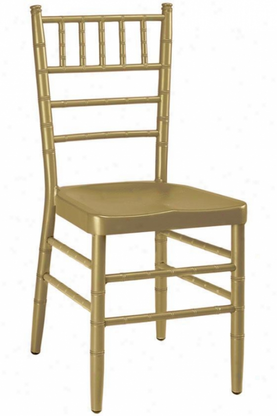 """party Chair - 35.5""""hx16""""w, Gold"""