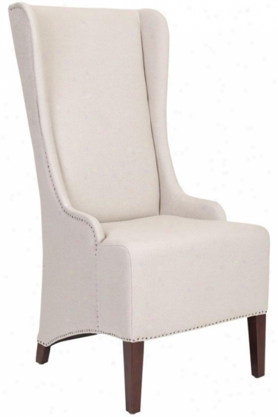 """phillips High-bzck Chair - 46""""h Thread of flax, Beige"""