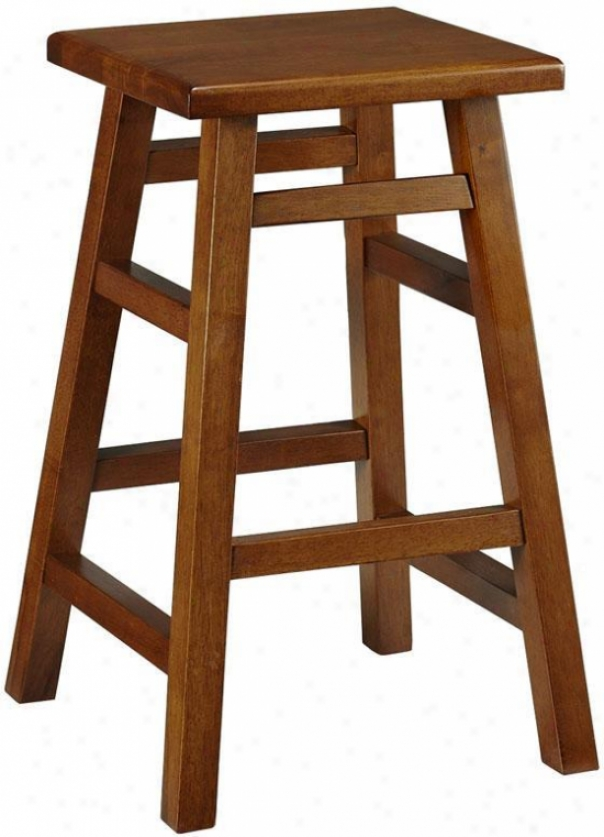 """pb Counter Stool - 24""""h, Brown Wood"""
