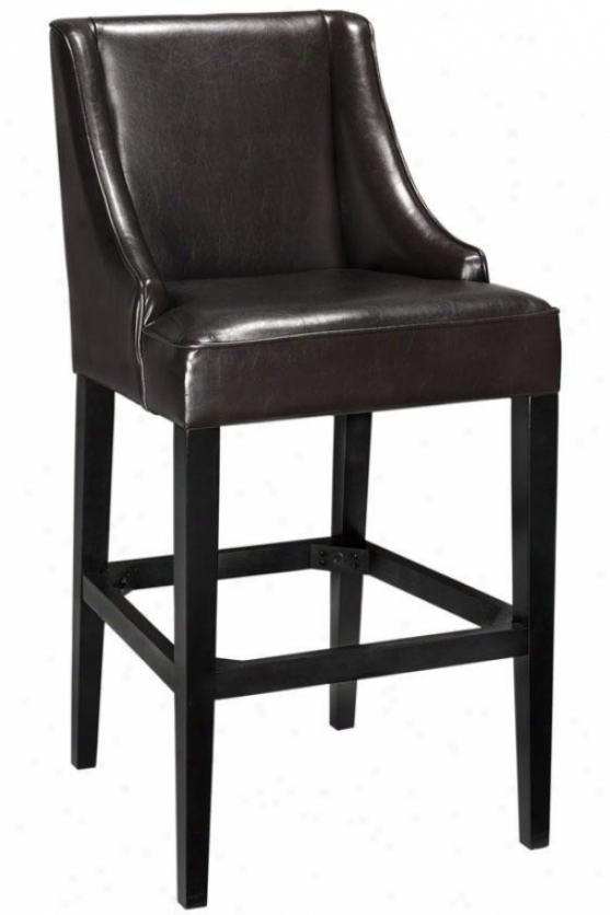 """recycled Leather Bar Stool - 44""""hx22""""w, rBown"""
