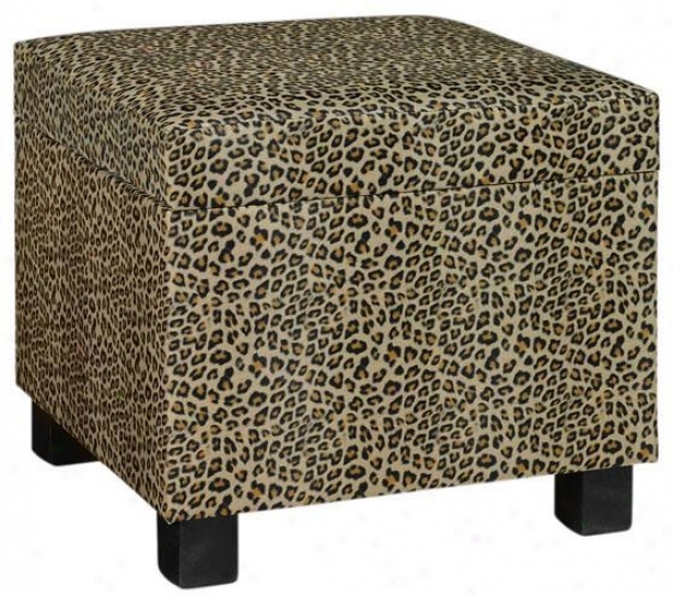 """safari Storage Ottoman - 15""""hx15""""w, Brown"""