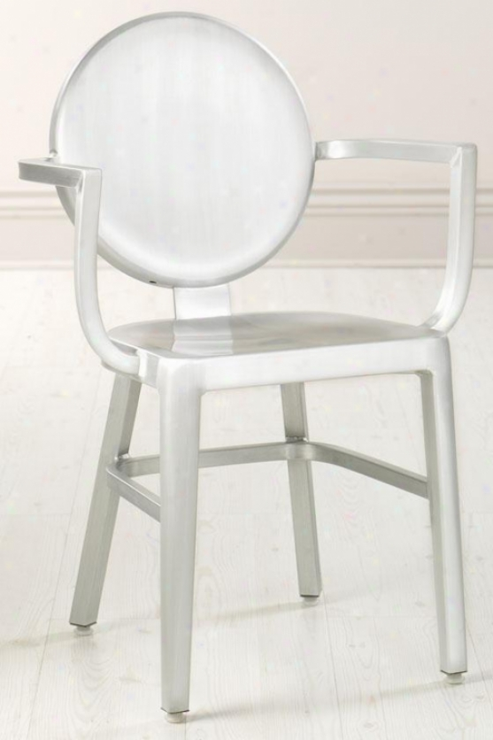 """samantha 33""""h Arm Chair - 33""""hx21.5""""w, Brshd Aluminum"""