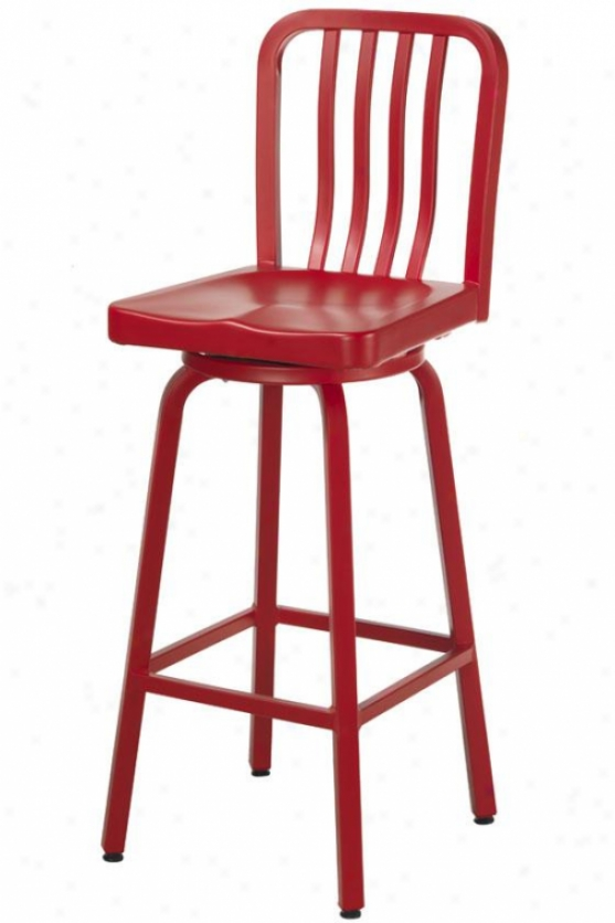 Sandra Shoal Stool - Swivel/metal, Red