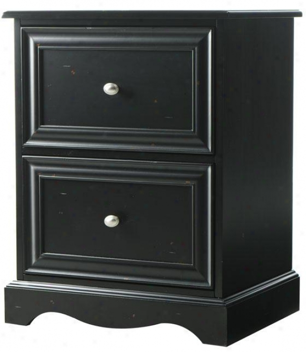"""sheffield File Cabinet - 2drwr 30""""h, Black"""