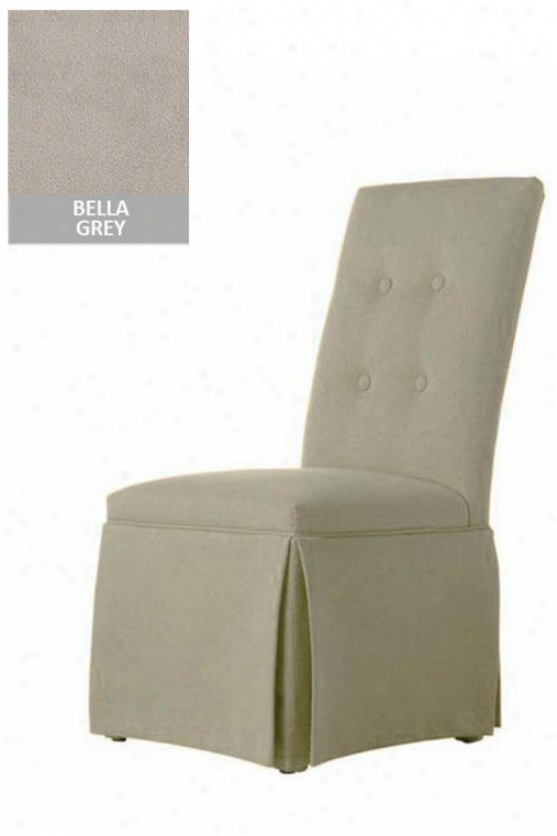 """skirted Parsons Seat of justice - 41.5""""x19x18, Bella Grey"""