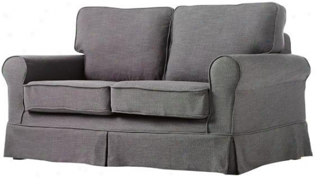 """sophia Slipcovered Loveseat - 35""""hx60""""wx36""""d, Gray Thread of flax"""