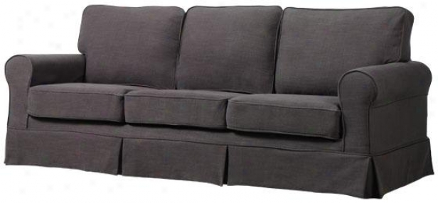 """sophia Slipcovered Sofa - 35""""hx83""""wx36""""d, Gray Linen"""