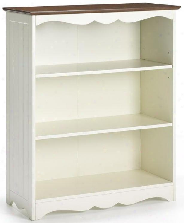 """""""southport Open 3-shelf Bookcase - 40""""""""hx32""""""""wx14"""""""", Ivory And Oak"""""""