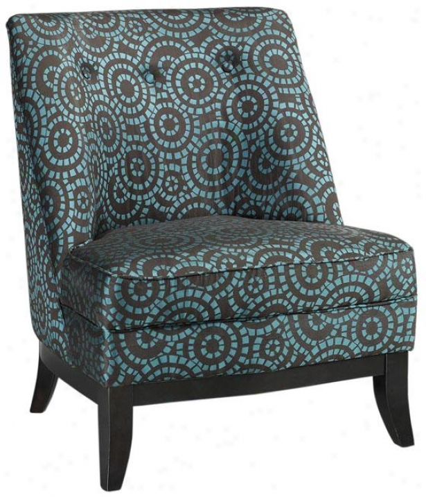 """tucci Slipper Chair - 35""""hx29""""w, Crcl Grd Brn&bl"""
