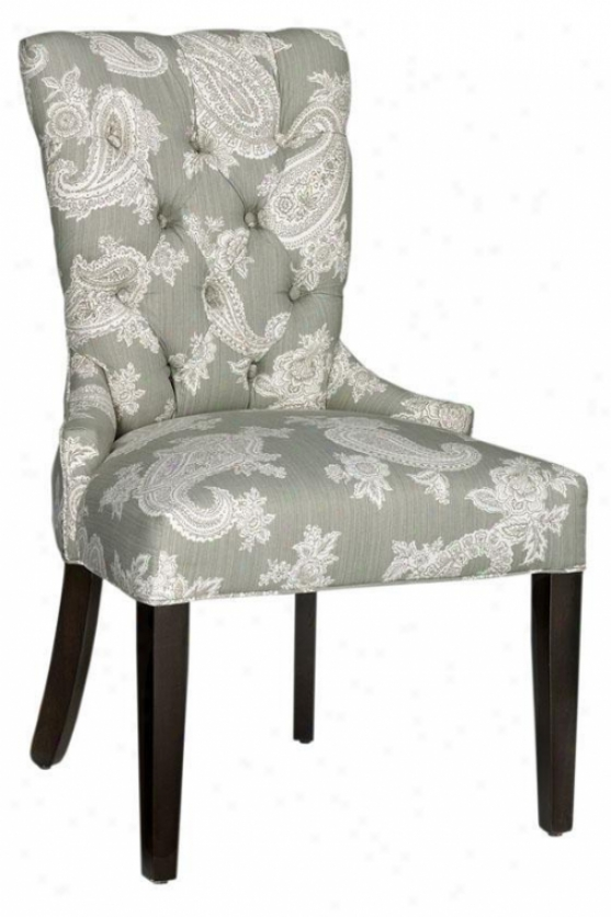 Tufted-back Dining Chair - Anta Brs Nlhead, Chelsea Silver
