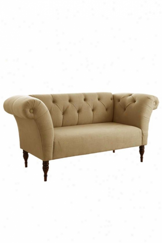 """tufted Roll Inlet  Chair - 33""""h, Linen Sndstn-a"""