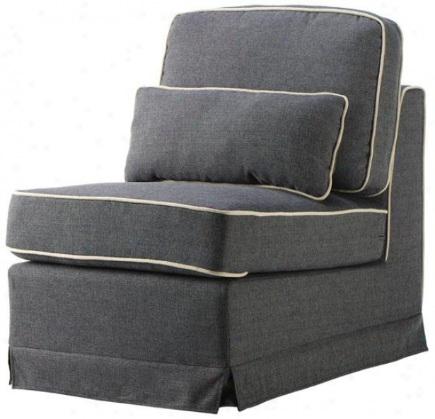 Tyson Sectional Pieces - Armless Chair, Gray