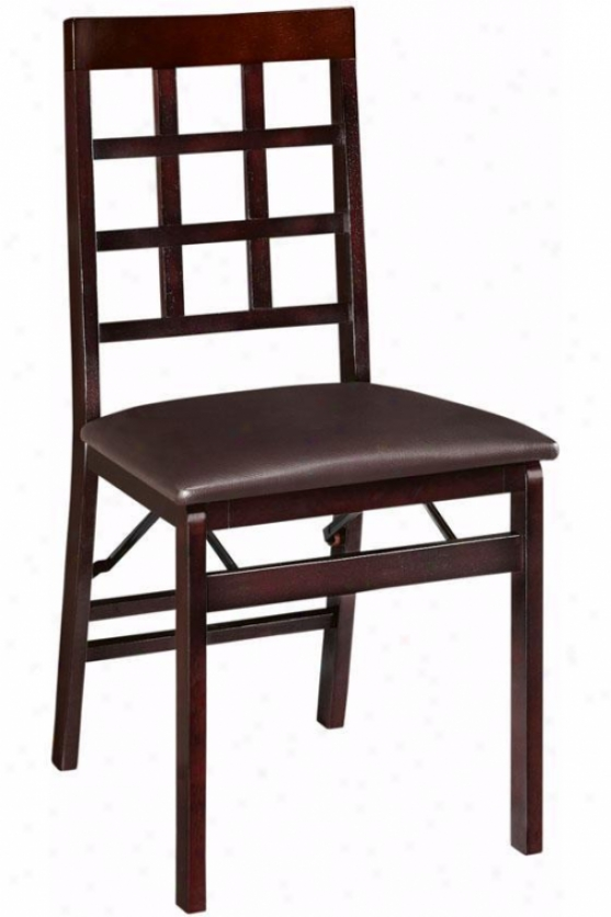 Window Pane Foldable Chair - Chair Height, Brown