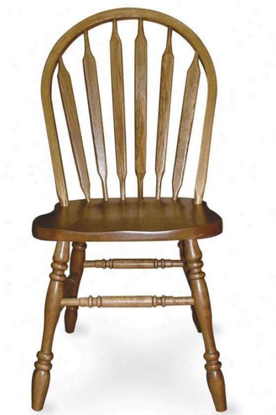 """windsot Arrow-back Side Chair - 18""""h, Brown"""