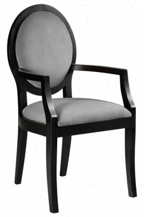 """zoe Arm Chair - 39.5""""hx21.5""""w, Soljd Vlvt Grey"""